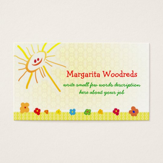 happy children business card