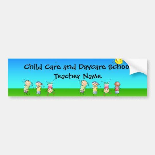 Happy Children Play in Sun, Kids Outdoors Bumper Sticker