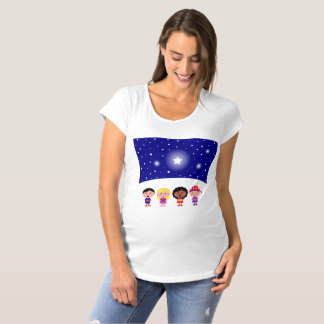 Happy Children Singing Maternity T-Shirt