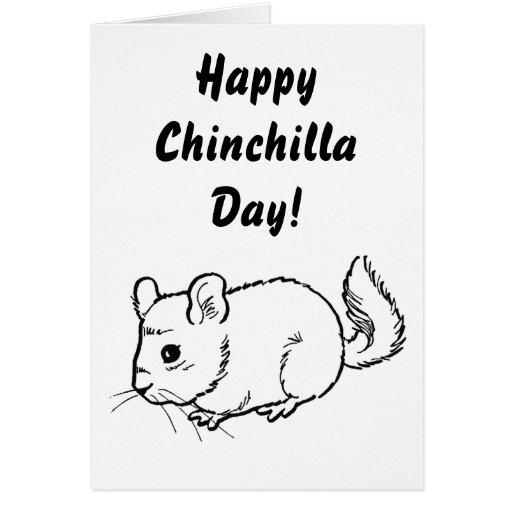 Happy Chinchilla Day! Greeting Card