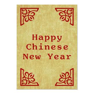 happy chinese new year 13 cm x 18 cm invitation card