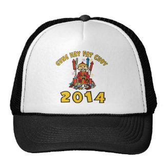 Happy Chinese New Year 2014 Mesh Hats