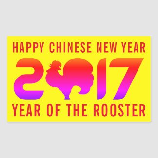 Happy Chinese New Year 2017 | Year of the Rooster Rectangular Sticker