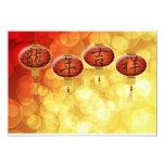 Happy Chinese New Year Lanterns Greeting Card Custom Invitation