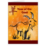 Happy Chinese New Year of the Goat Cartoon Greeting Card