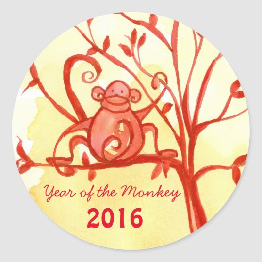 Happy Chinese New Year Of The Monkey Classic