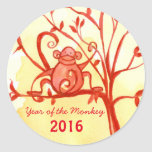 Happy Chinese New Year Of The Monkey Round Sticker