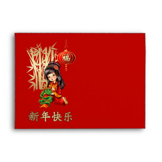 Happy Chinese New Year Traditional Red Envelopes