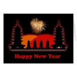 Happy Chinese New Year  VietnameseNew Year pagodas Card