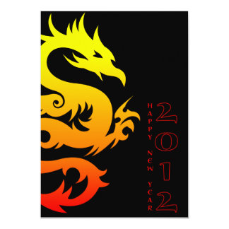 happy chinese new year : year of the dragon 13 cm x 18 cm invitation card