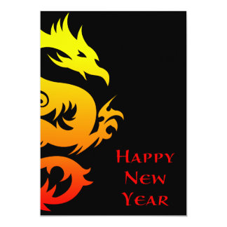 happy chinese new year : year of the dragon 2012 13 cm x 18 cm invitation card