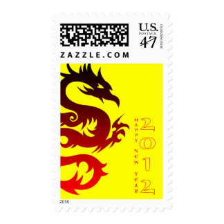 happy chinese new year : year of the dragon postage stamps