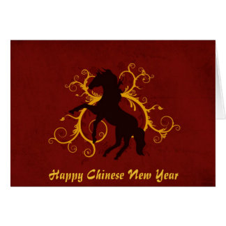 Happy Chinese New Year Year of the Horse Greeting Card