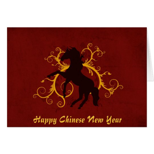 Happy Chinese New Year Year of the Horse Card