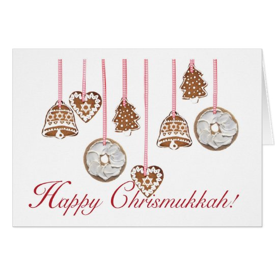 Happy Chrismukkah Greeting Card Bagels Cookies
