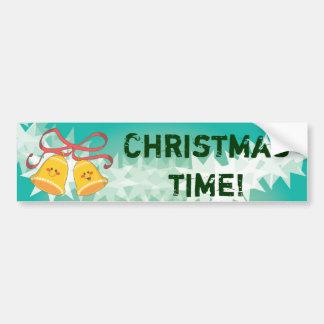 Happy Christmas Bells Car Bumper Sticker