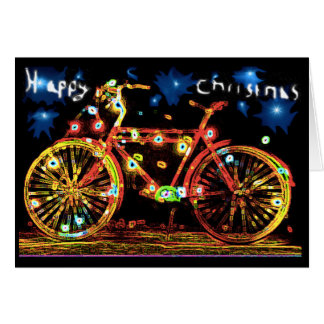 Happy Christmas Bike Greeting Card