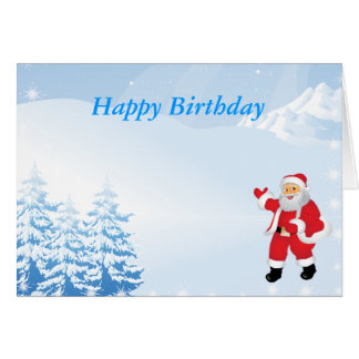 Happy Christmas Birthday Greeting Cards