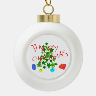 Happy  christmas ceramic ball christmas ornament