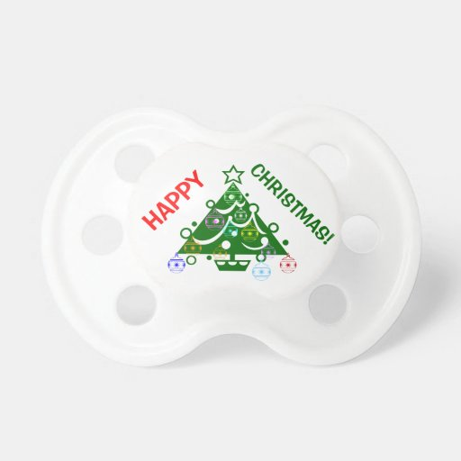 HAPPY CHRISTMAS PACIFIERS
