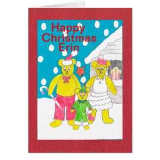 Happy Christmas Erin Card