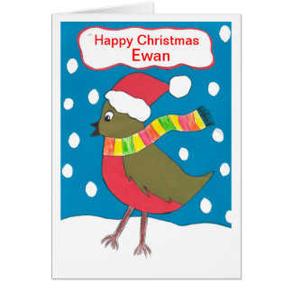 Happy Christmas Ewan Greeting Card