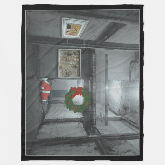 happy christmas fleece blanket