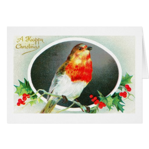 Happy Christmas from a robin Greeting Card