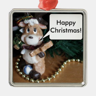 Happy Christmas From Reindeer Christmas Ornament