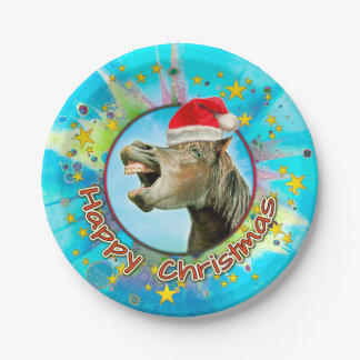 Happy Christmas from the laughing horse Paper Plate