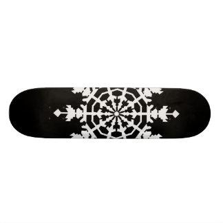 Happy Christmas - Ice Crystal - Snow Flake Skate Board Deck