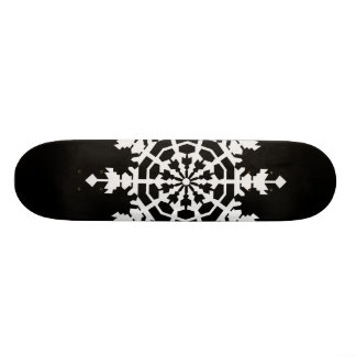 Happy Christmas - Ice Crystal - Snow Flake Skate Board Deck