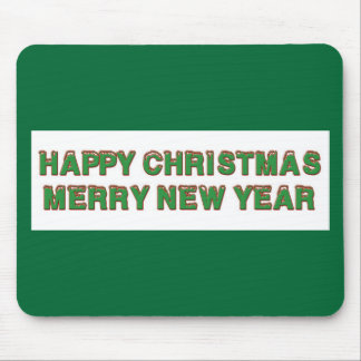 Happy Christmas Line Mouse Pad