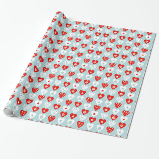 Happy Christmas Love Hearts Wrapping Paper