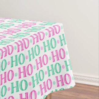 Happy Christmas Morning Ho Ho Ho Santa Tablecloth