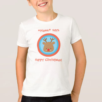 Happy Christmas NAME Rudolf T Shirt