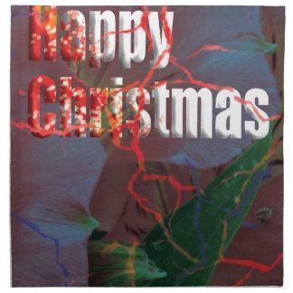 happy christmas napkin