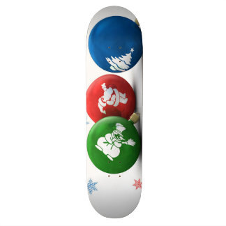 Happy Christmas Ornaments Skate Board Decks