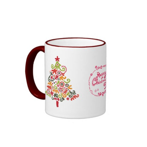 Happy Christmas Ringer Coffee Mug