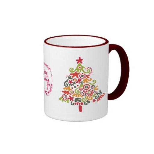 Happy Christmas Ringer Mug