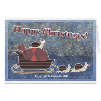 Happy Christmas Snails Greeting Card