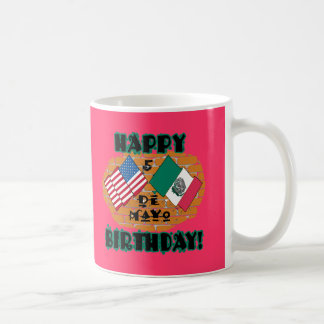 Happy Cinco de Mayo Birthday Basic White Mug