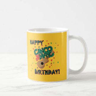Happy Cinco de Mayo Birthday! Basic White Mug