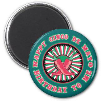 Happy Cinco de Mayo Birthday Magnet