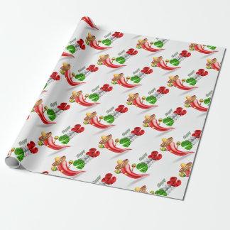 Happy Cinco De Mayo Chilli Pepper Design Wrapping Paper