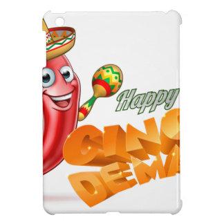 Happy Cinco De Mayo Chilli Pepper Mexican Design iPad Mini Case