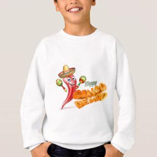 Happy Cinco De Mayo Chilli Pepper Mexican Design Sweatshirt