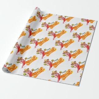 Happy Cinco De Mayo Chilli Pepper Mexican Design Wrapping Paper