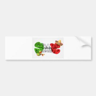 Happy Cinco De Mayo Design Bumper Sticker