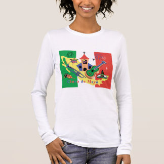 Happy Cinco de Mayo Ladies Long Sleeve T-Shirt